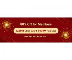 Big Discount for New Year: Gain RS 3 Gold with 80% Off as RSorder Members