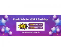 OSRS Birthday 2021 Flash Sale: Enjoy RS07 Gold for FREE on RSorder