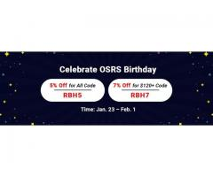 RSorder OSRS Birthday Promo: Up to 7% Off Cheap OSRS Gold & More to Take Online