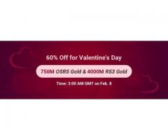 Ready for RSorder Valentine's 60% Off Sale to Take RS Gold on Feb. 8