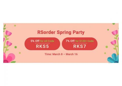 RSorder Spring Party: Up to 7% Off for Cheap Runescape 2007 Gold to Get until Mar.16