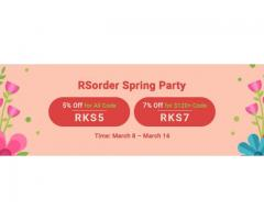 Hurry to Take 7% Off RS 07 Gold in RSorder Spring Party until Mar. 16
