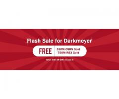 RSorder Flash Sale for Darkmeyer: 150M Free Runescape 07 Gold for U to Acquire on June 8